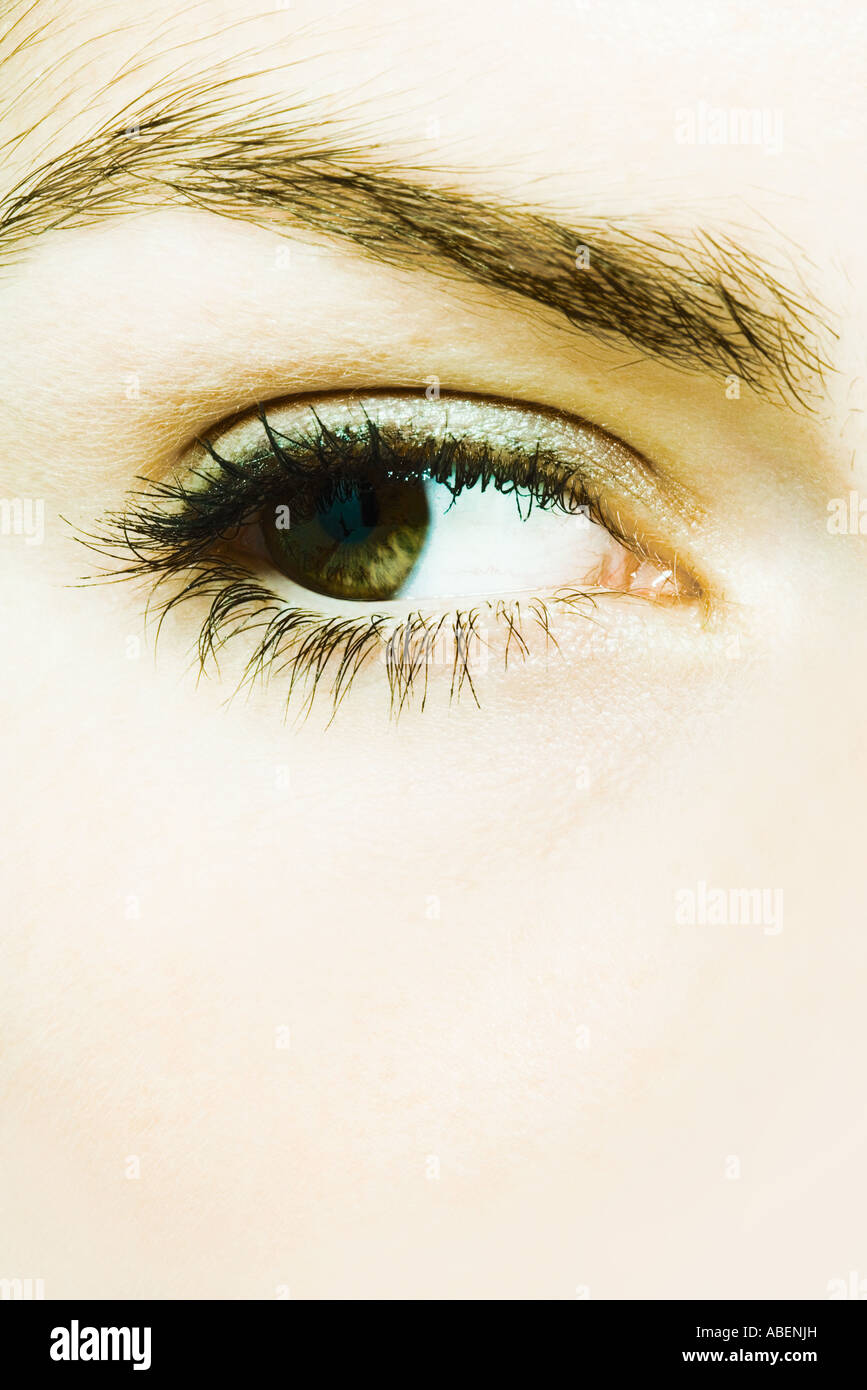 Young woman's eye, extreme close-up - Stock Image