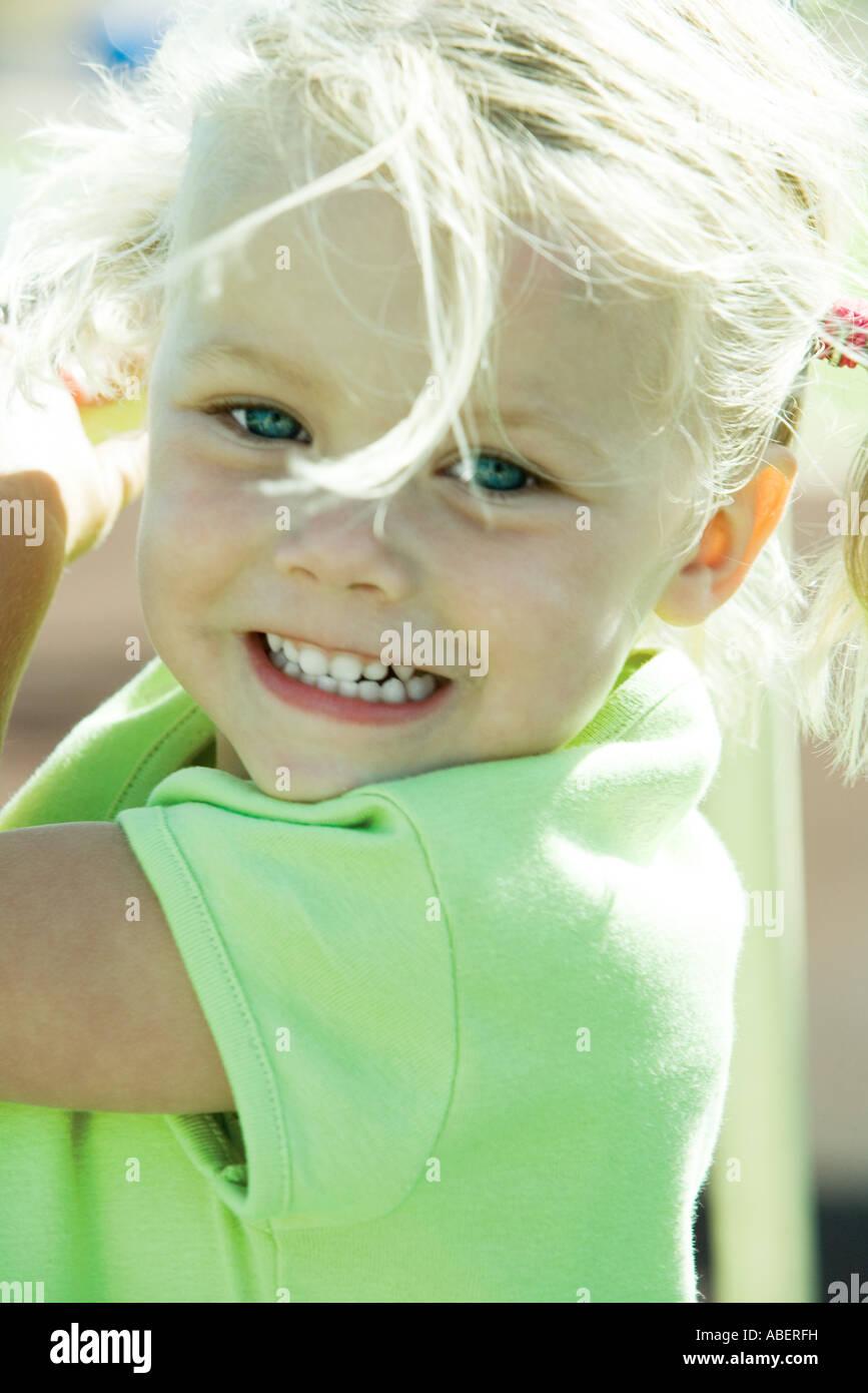 Little girl, portrait - Stock Image