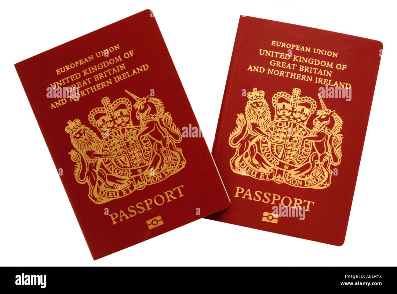 Biometric Passport, British passport, passport - Stock Image
