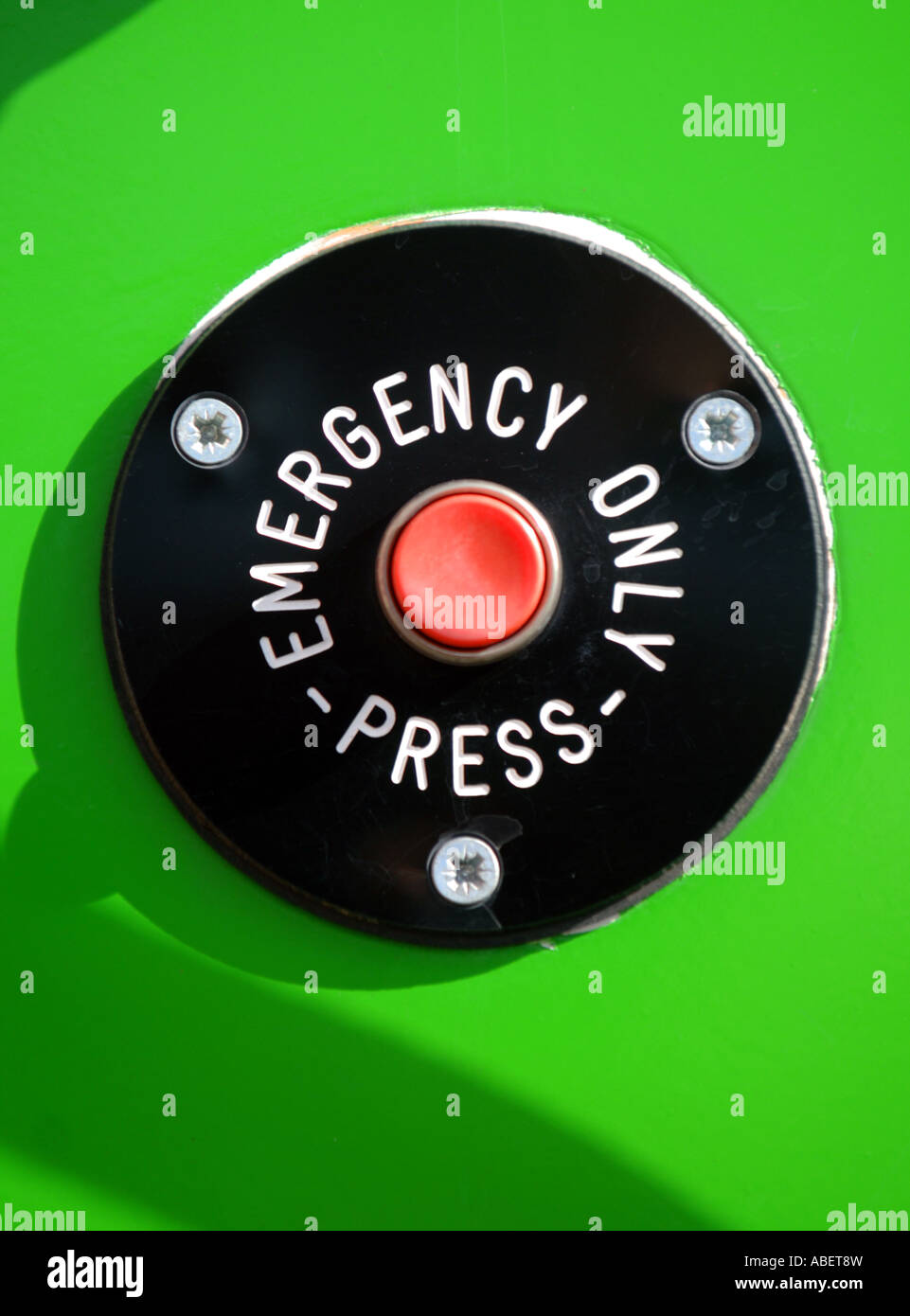Emergency button - Stock Image