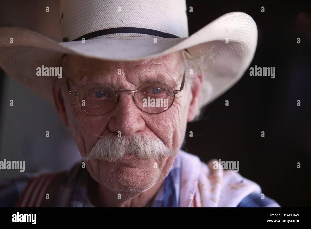 Portrait of a cowboy - Stock Image