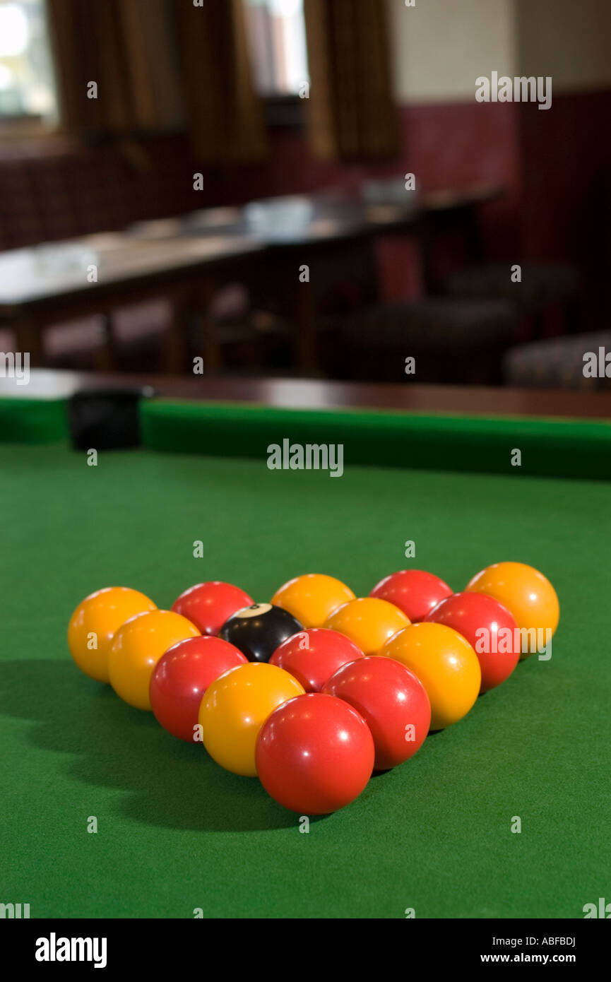 A Pool Table With Balls Set Up Ready To Play In A Pub Or Bar Often A - How to set up a pool table