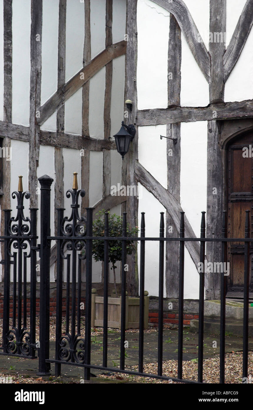 Detail of elizabethan architecture on a building in the village of Barnston in Essex - Stock Image