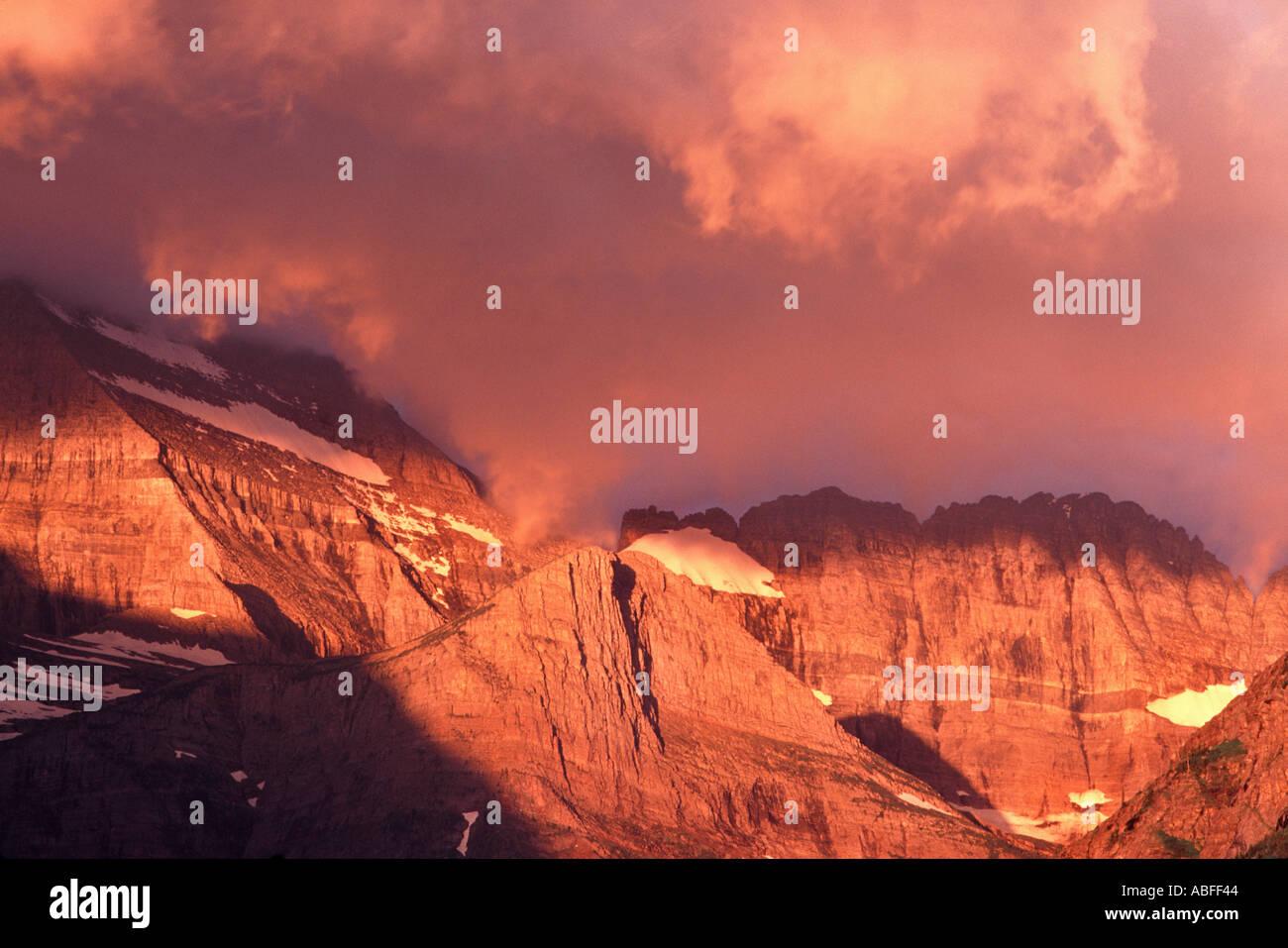 mt grinnell many glacier glacier national park montana stock photo