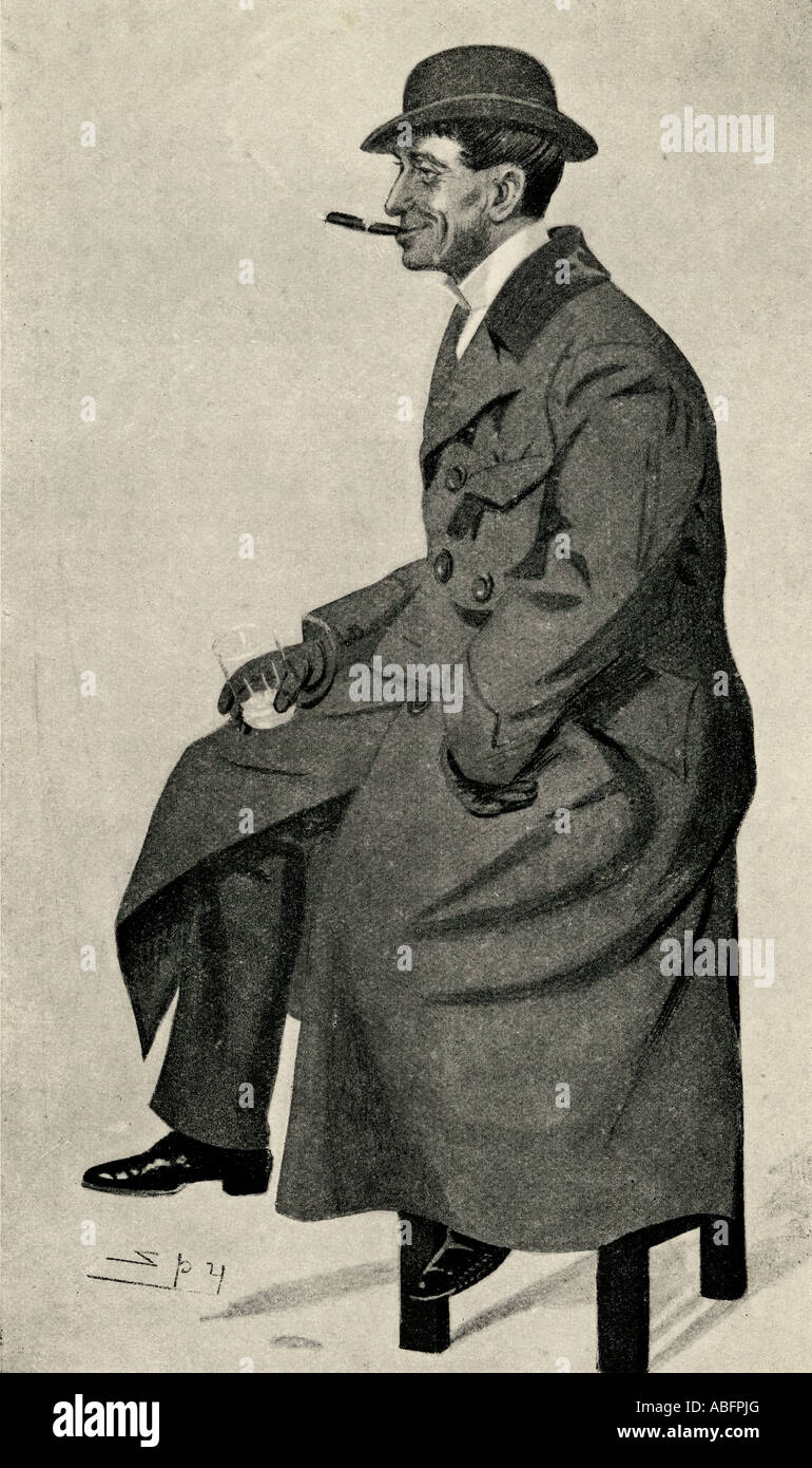 Phil May 1864 1903 English caricaturist After a portrait by Leslie Ward 1851 1922 known as Spy - Stock Image