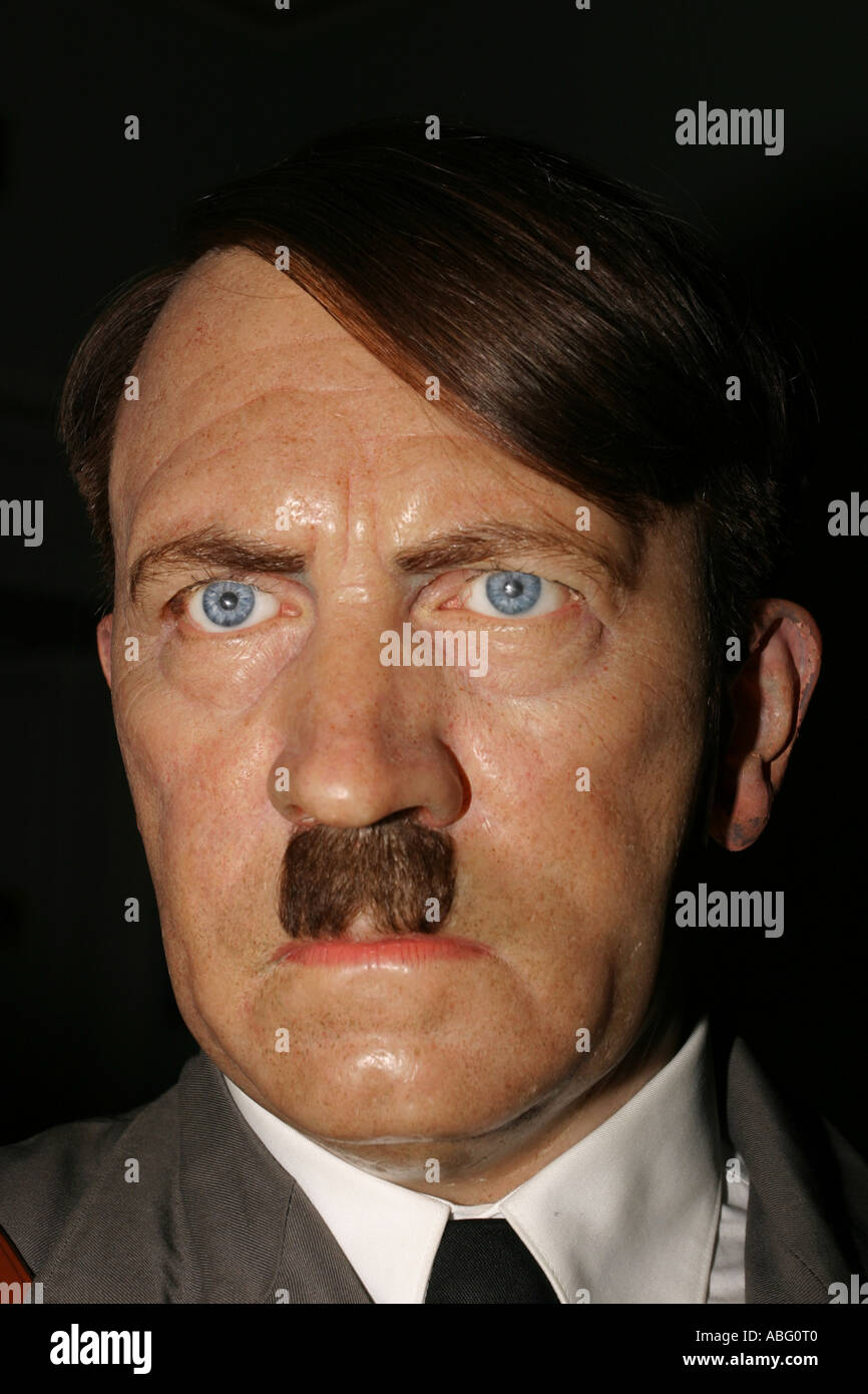 Adolf Hitler as a waxwork replica at Madame Tussauds, London - Stock Image
