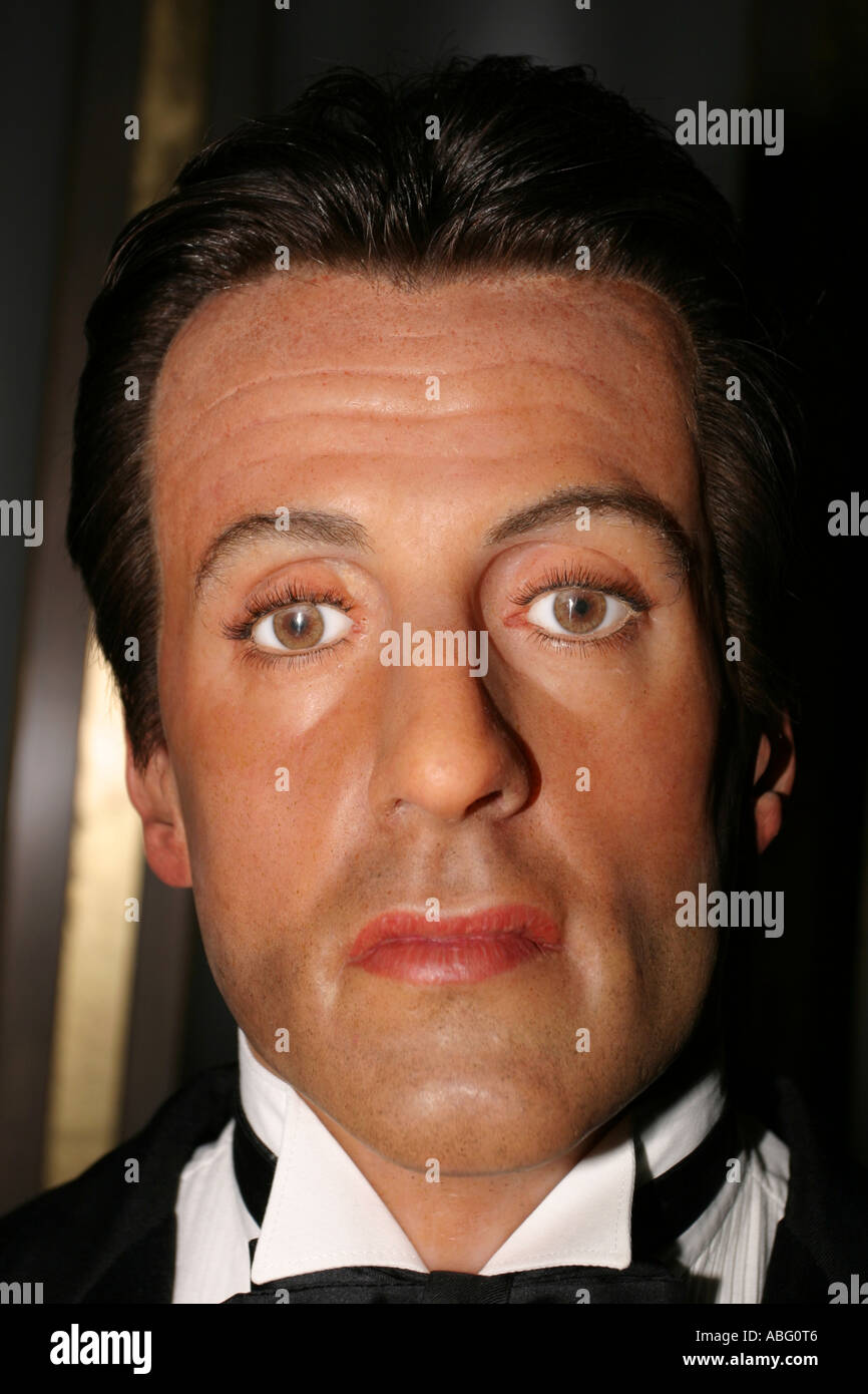 Sylvester Stallone as a waxwork replica at Madame Tussauds, London - Stock Image