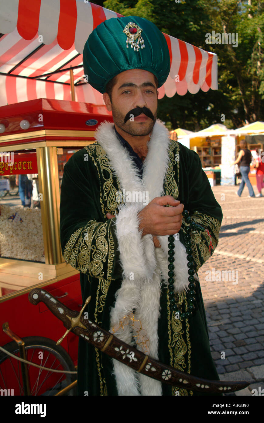 A Man In Ottoman Outfit Stock Photo 2378639 Alamy