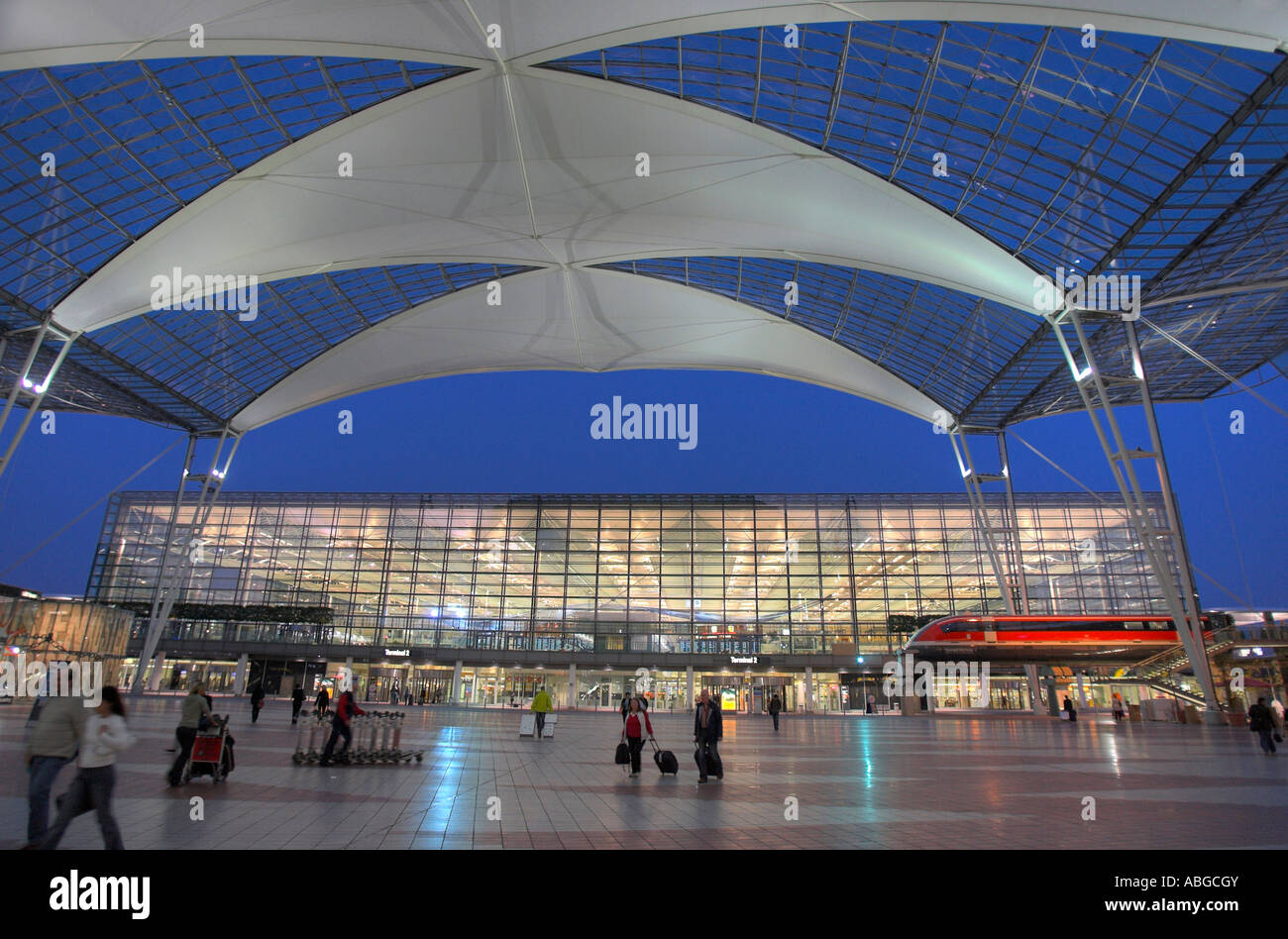 terminal 2 of the airport in munich bavaria germany stock photo 12886922 alamy. Black Bedroom Furniture Sets. Home Design Ideas