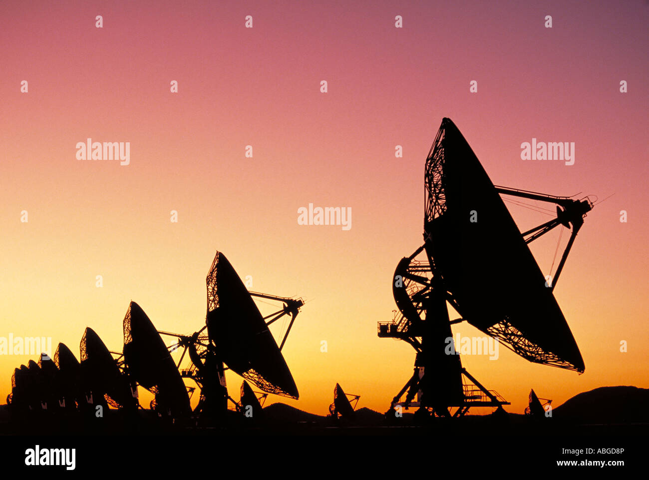 Elk226 5369 New Mexico NRAO Very Large Array VLA largest radio telescope in the world - Stock Image
