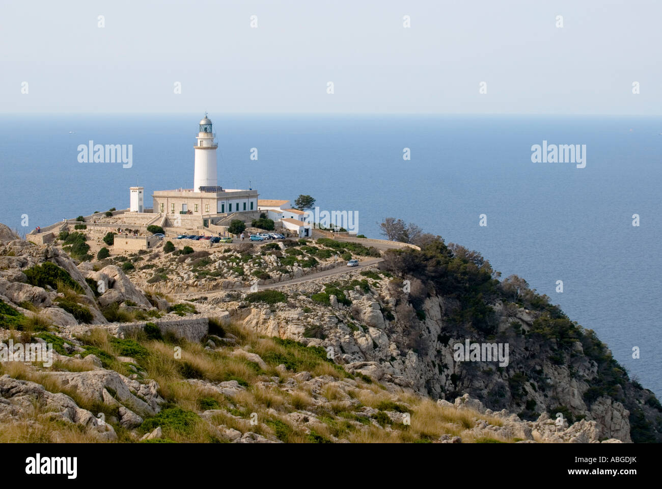 Lighthouse at ap Formentor, Majorca, Spain - Stock Image