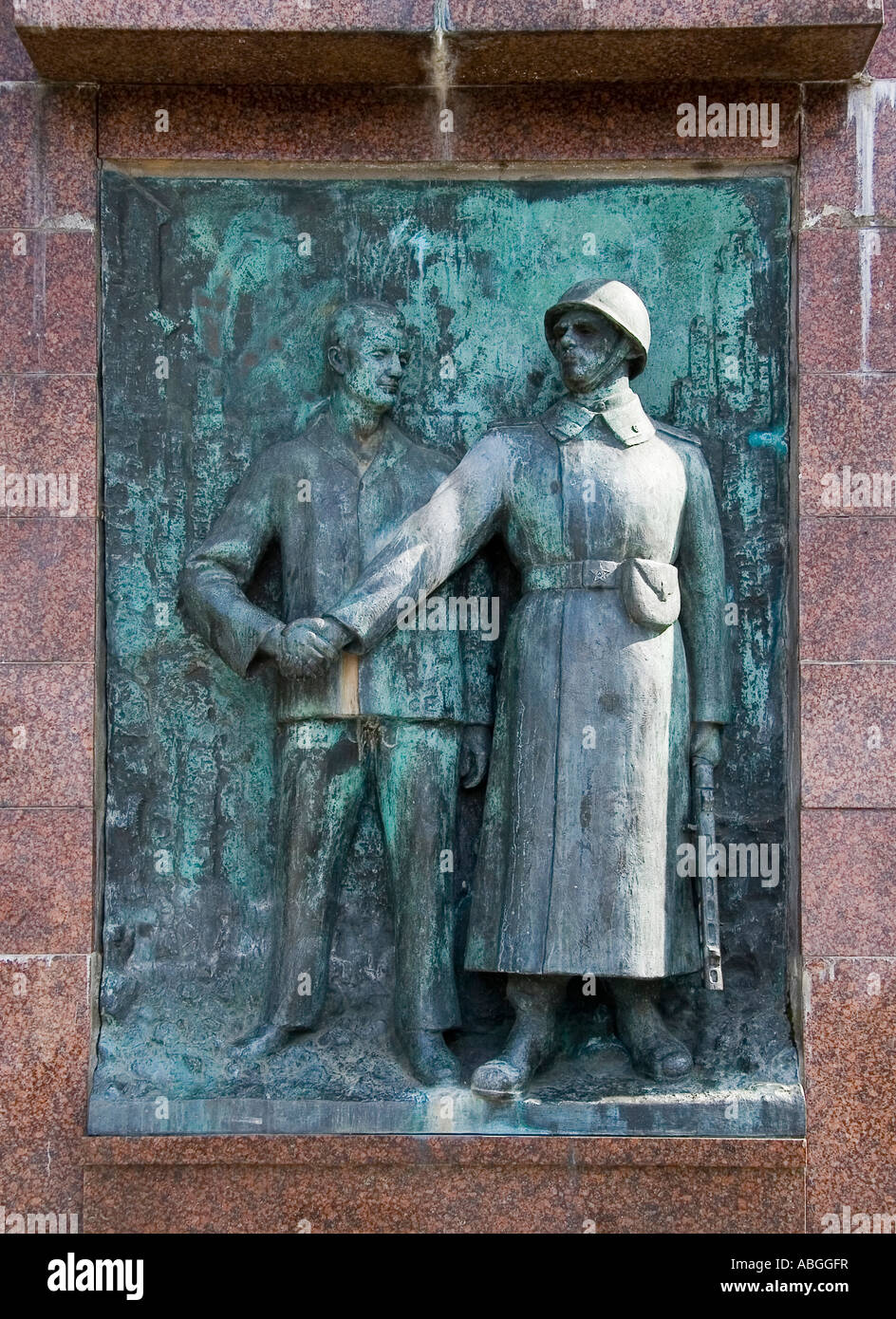 Memorial for Soviet soldiers killed in the Second World War, Stralsund, Mecklenburg-Western Pomerania, Germany - Stock Image