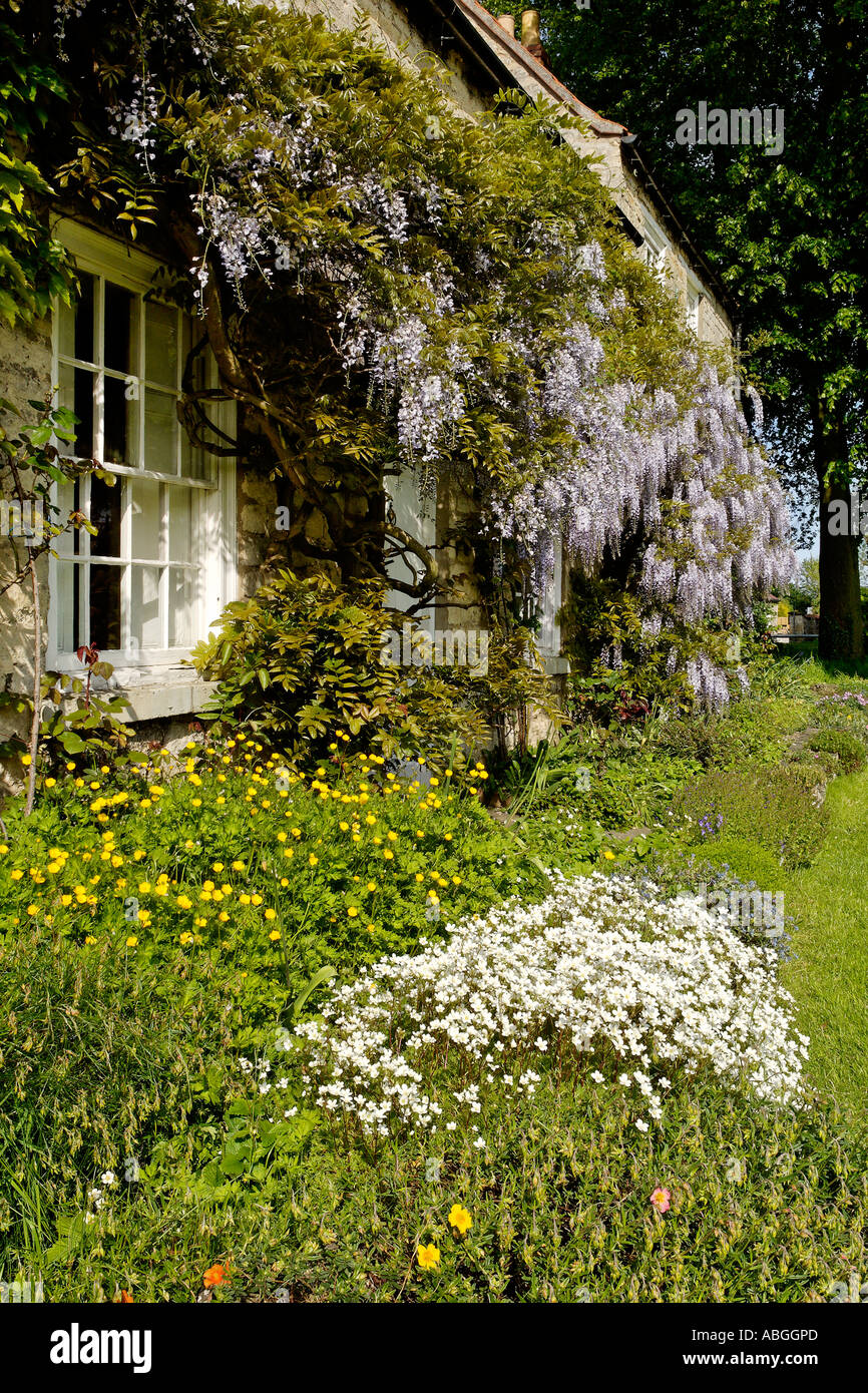 Quintessential English country cottage - Stock Image