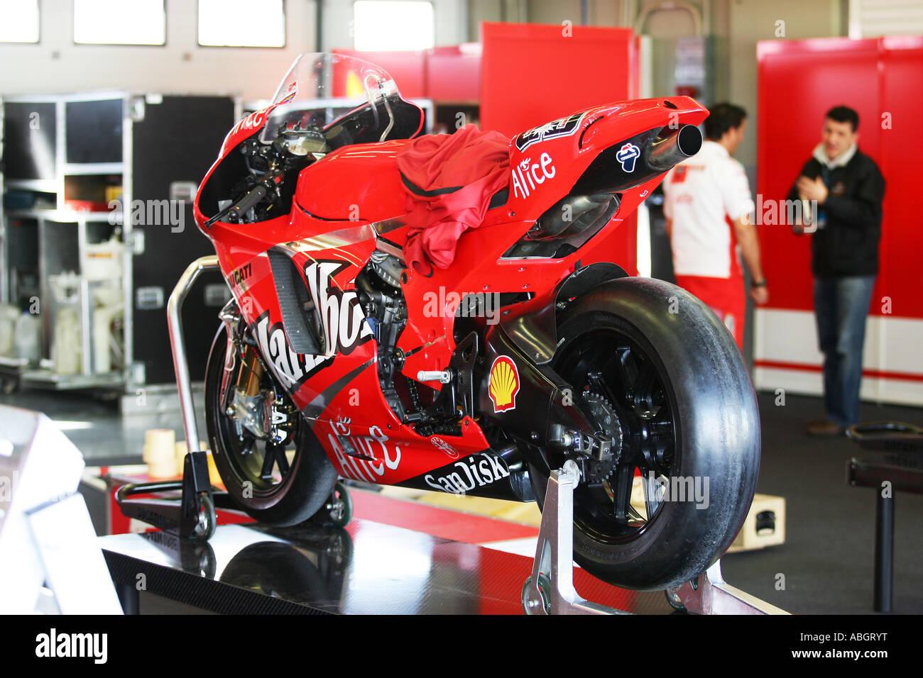 ducati 2007 moto gp bike - Stock Image