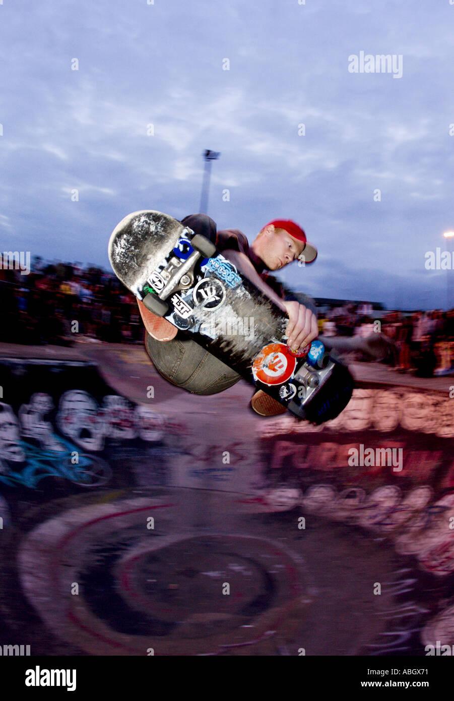 Skateboarding trick - Stock Image