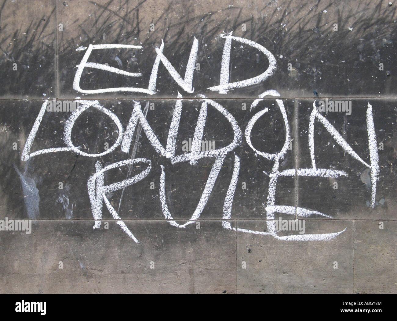 End London Rule - Stock Image