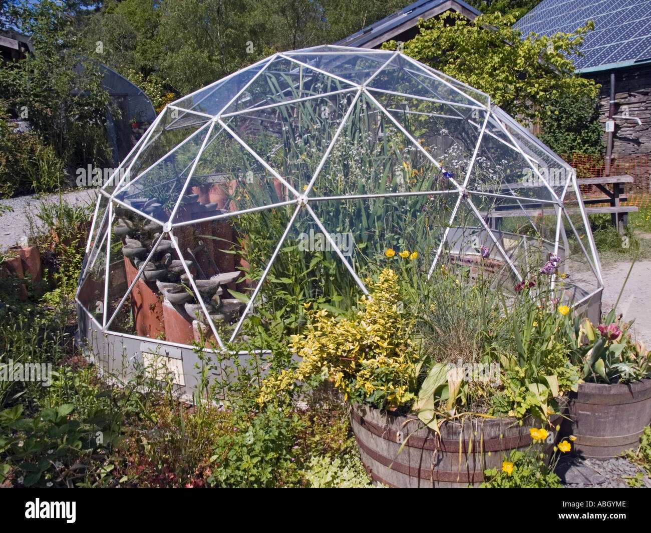 centre for alternative technology geodesic dome greenhouse. Black Bedroom Furniture Sets. Home Design Ideas