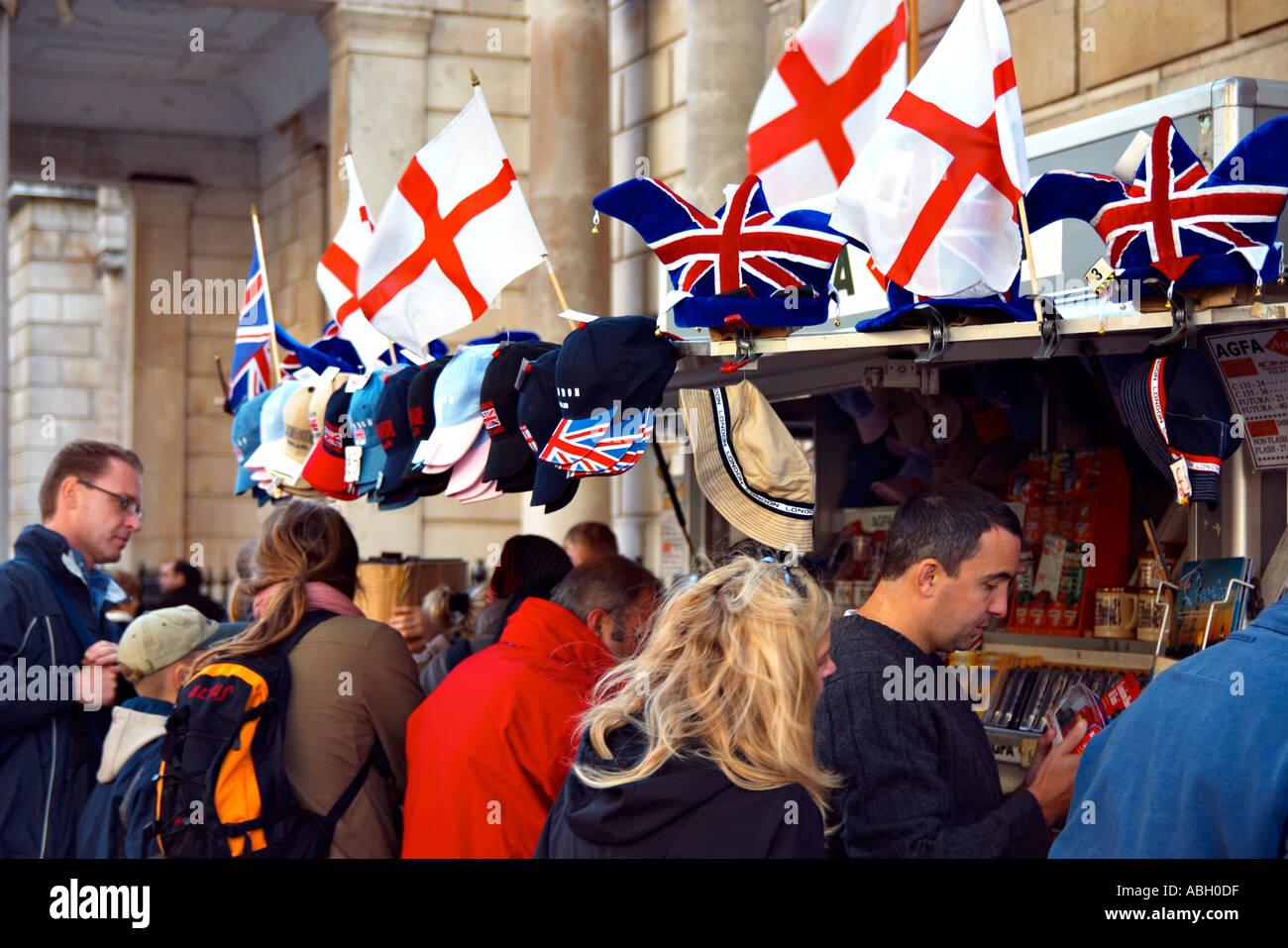 london souvenir stall tourist tourism visit england uk united kingdom britain buy consumerism - Stock Image