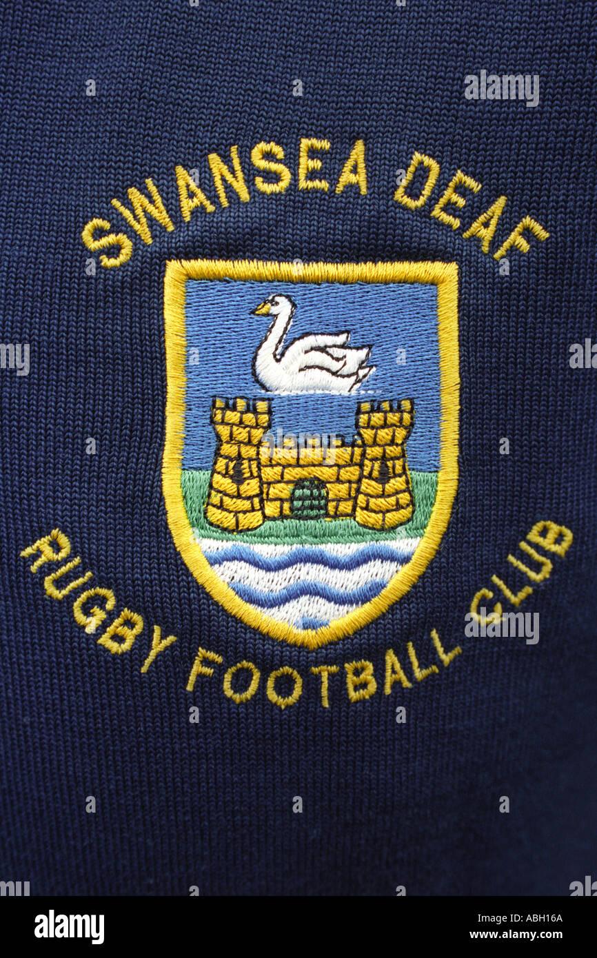 Badge of Swansea Deaf Rugby Football Club - Stock Image