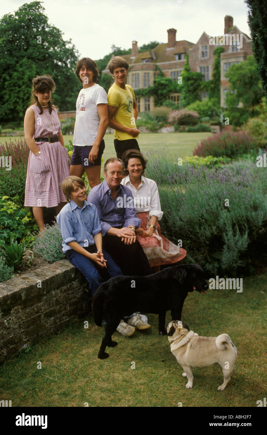 Sir George and Mary Christie family the owners of Glyndebourne Festival Opera  gardens, garden Lewes Sussex England   circa  1975 HOMER SYKES - Stock Image