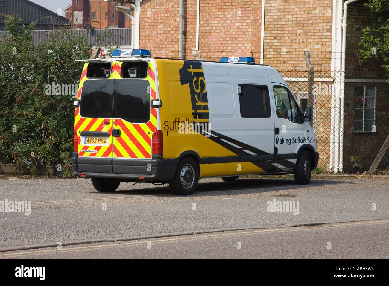 A police operated camera van in UK Stock Photo