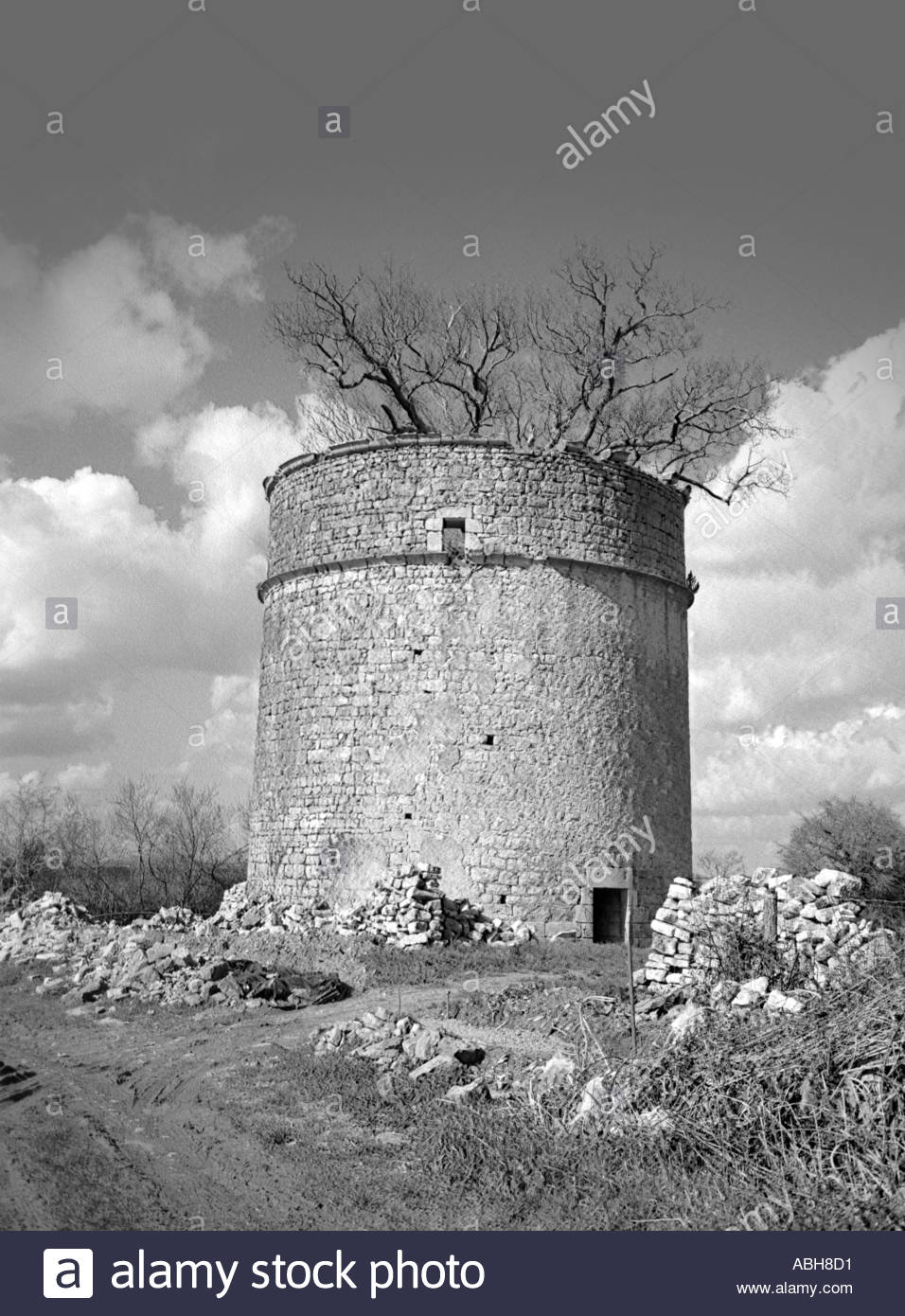 pigeon tower in beceleuf deux sevres south west france - Stock Image
