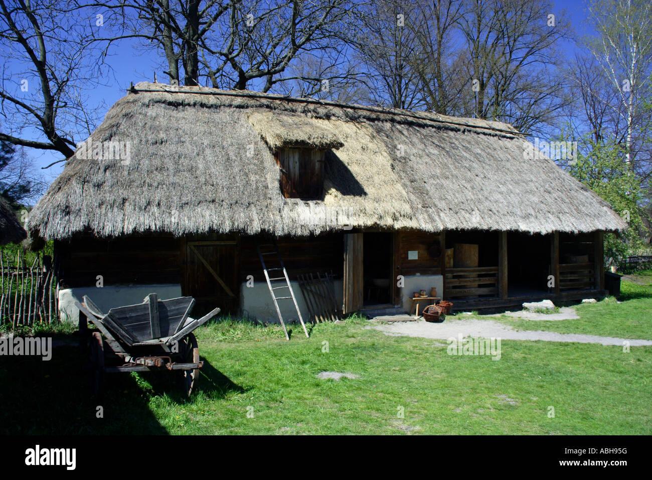 Zagroda Guciow open air museum, Poland Stock Photo