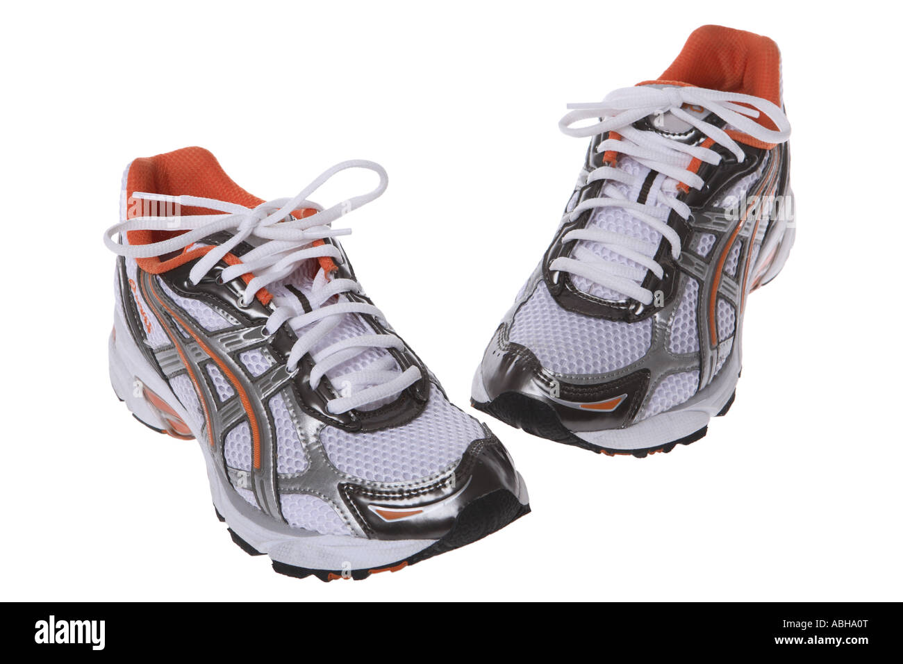 Running shoes cut out on white background Stock Photo