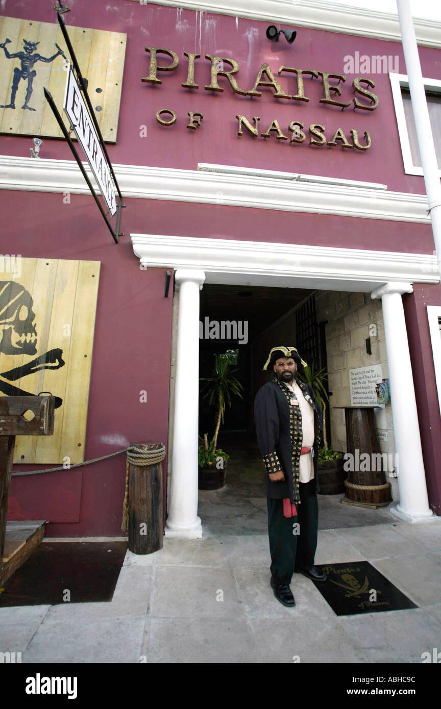 Pirates of Nassau Museum in downtown Nassau on New Providence Island Bahamas Caribbean - Stock Image