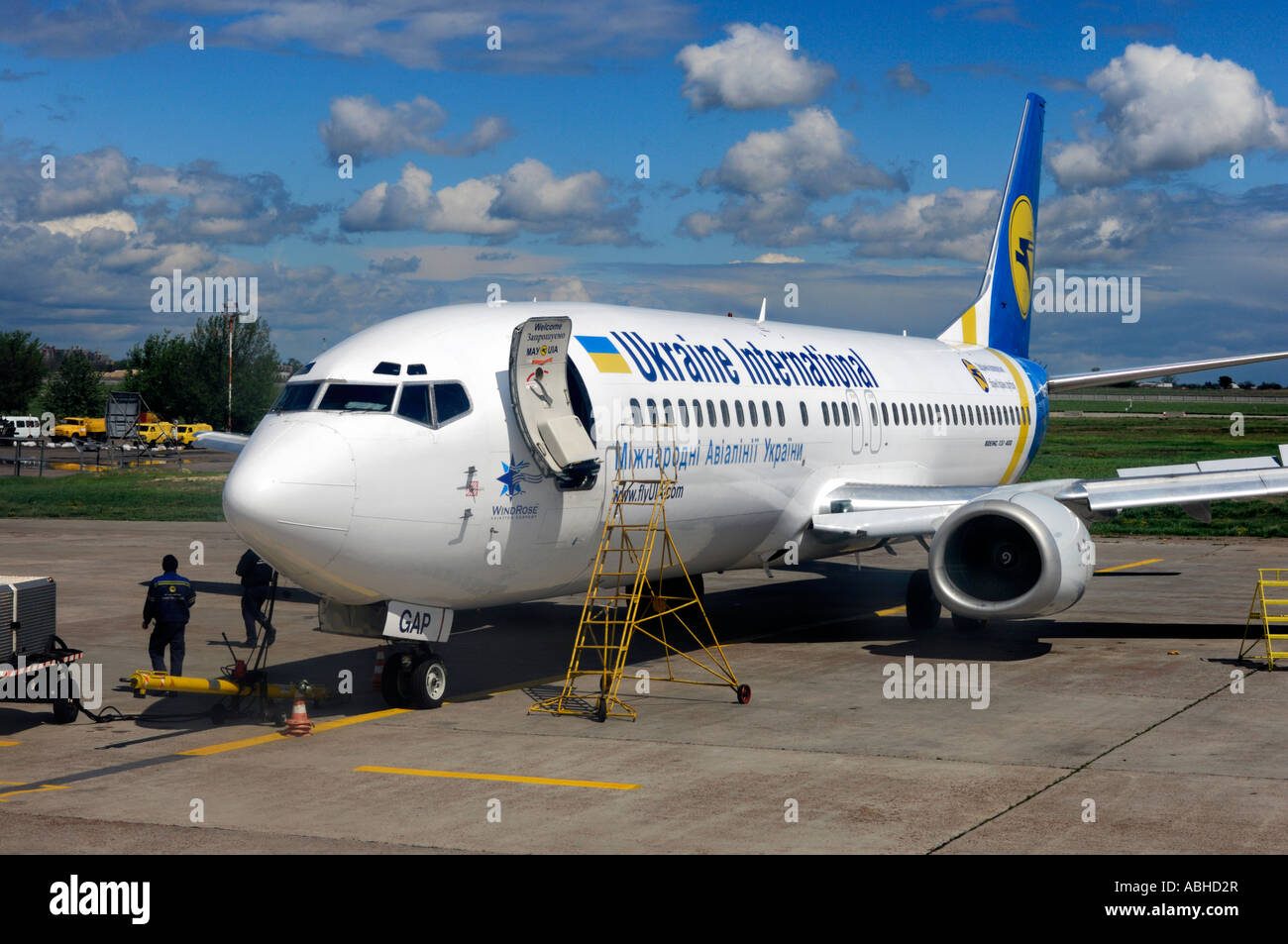 Aeroporto Kiev : Ukraine international airplane in kiev borispol airport plane