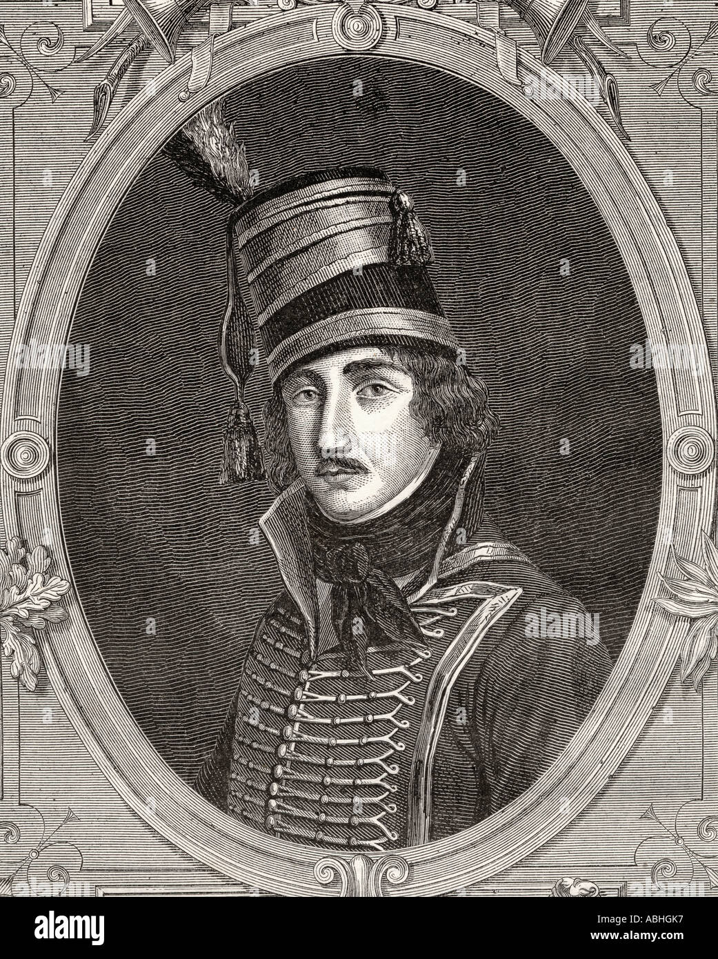 Francois Severin Marceau Desgraviers 1769 1796 French general - Stock Image