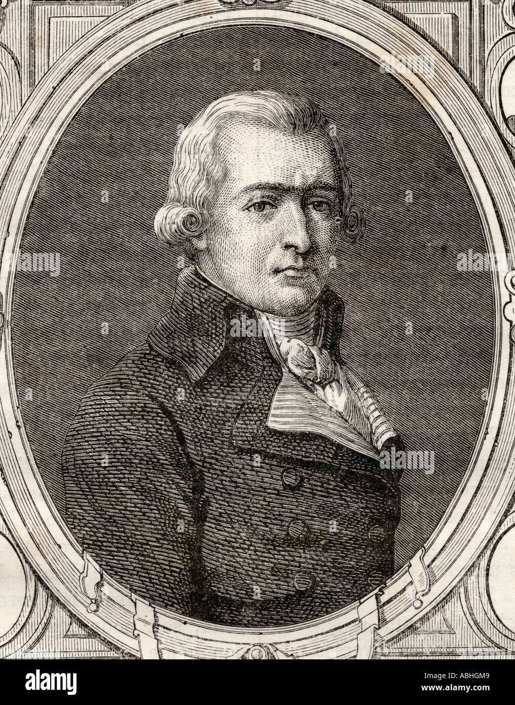 Jean Baptiste Andre Amar 1755 1816 French lawyer during the French Revolution - Stock Image