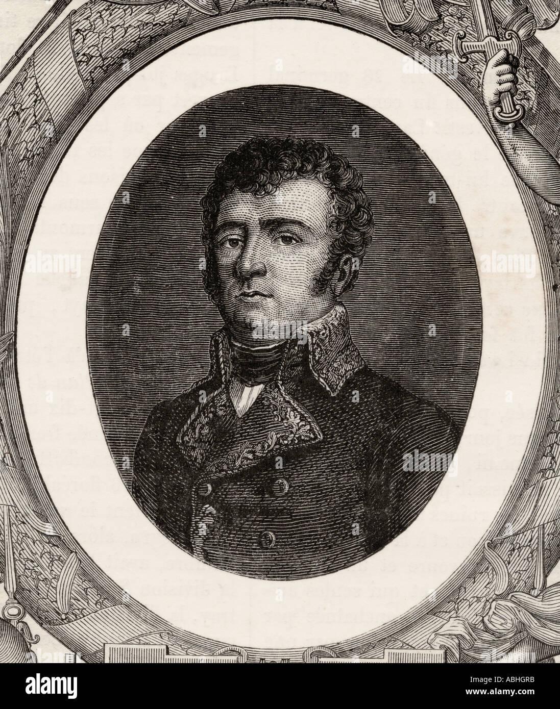Dominique Vandamme 1770 1830 French general from Histoire de la Revolution Francaise by Louis Blanc Stock Photo