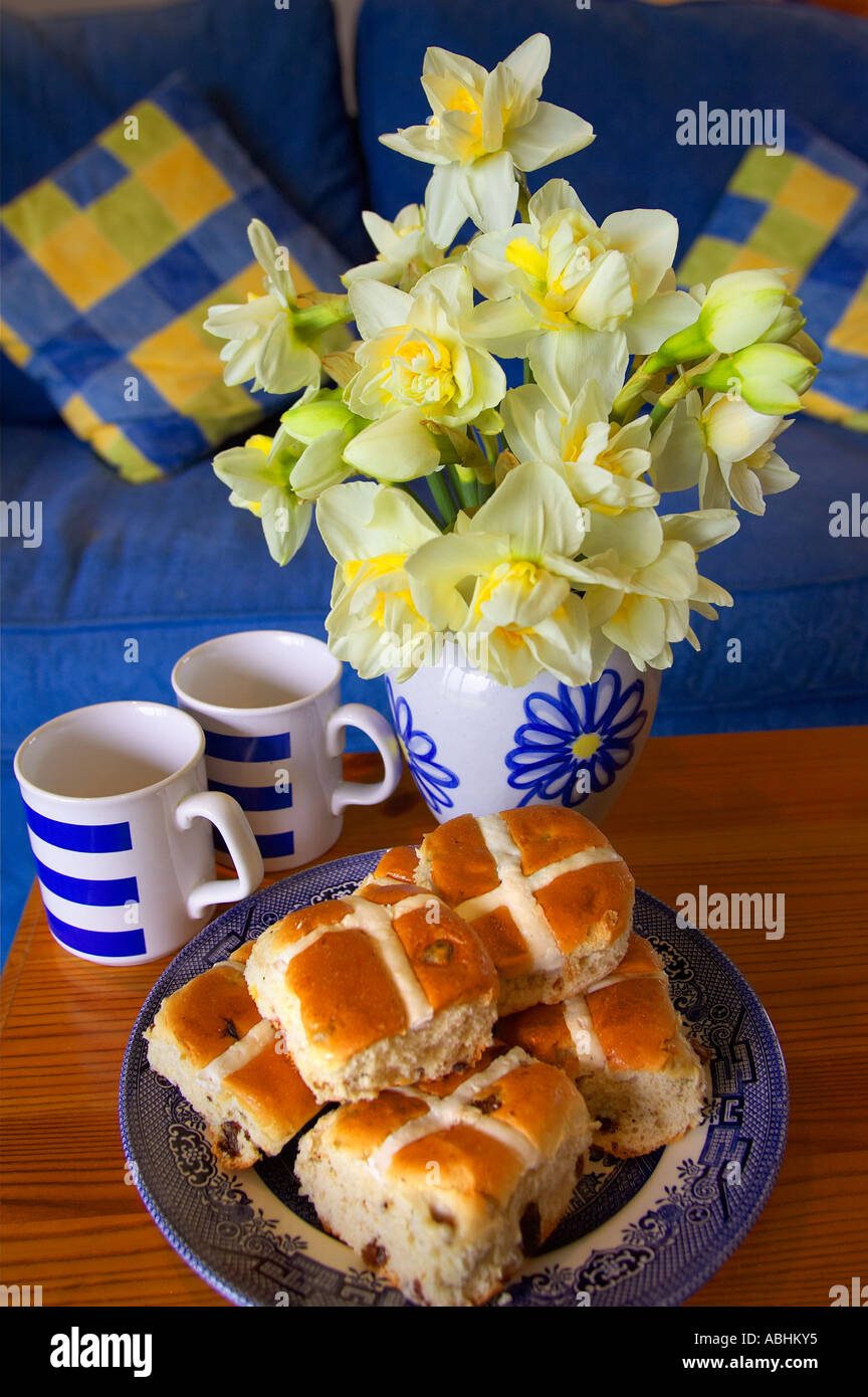 hot crossed buns - Stock Image
