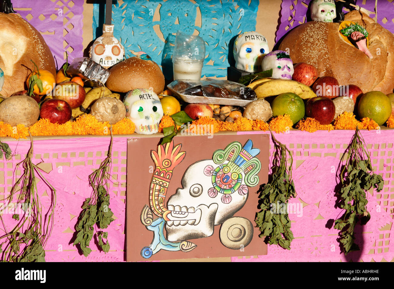 Offerings Altar Day Of The Dead Festival Monte Alban Mexico