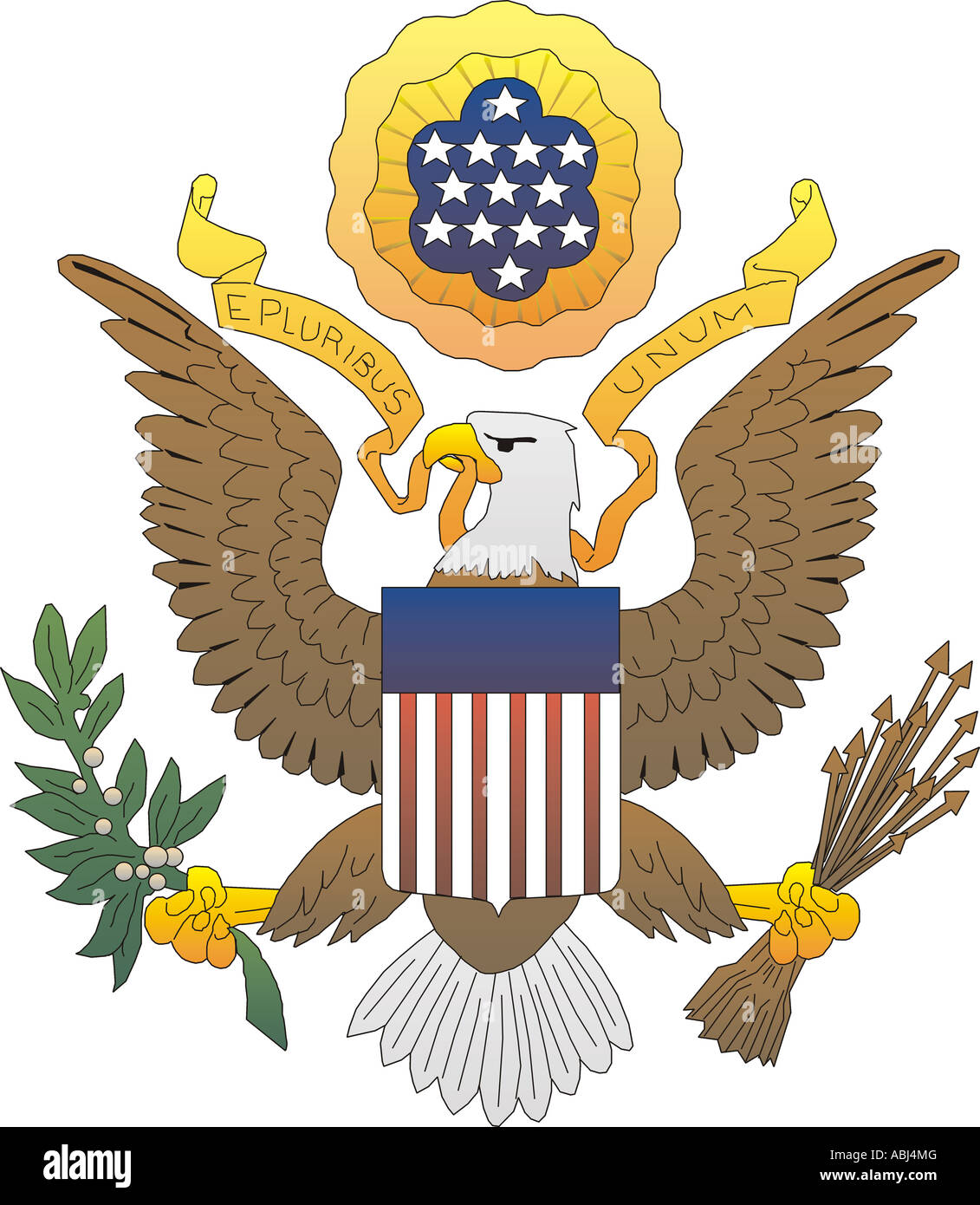 The Great Seal Of The United States Of America - Stock Image