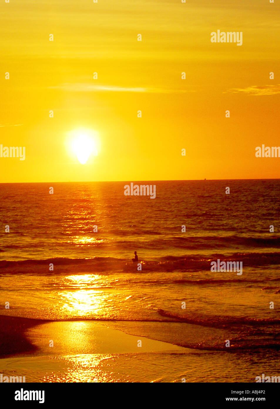Yellow Sunset Stock Photo