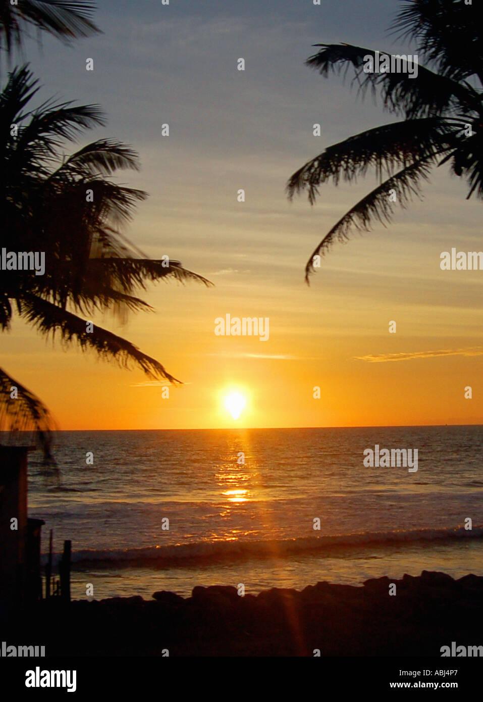 Sunset in Sri Lanka Stock Photo