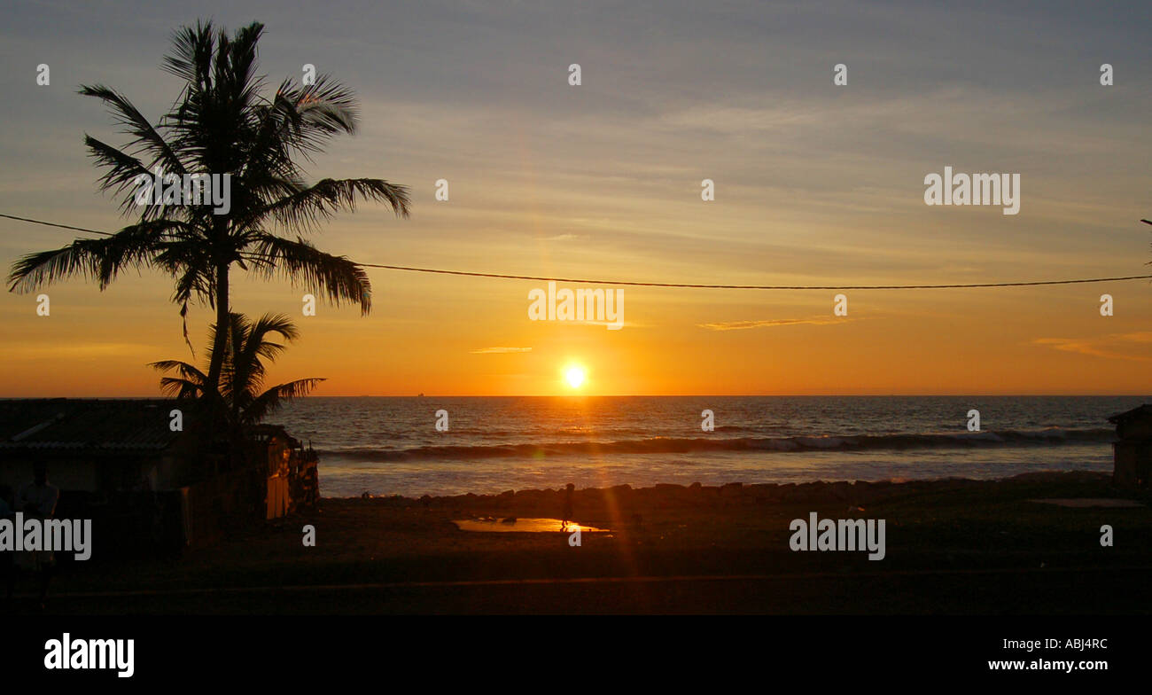 Sunset in Sri Lanka Stock Photo