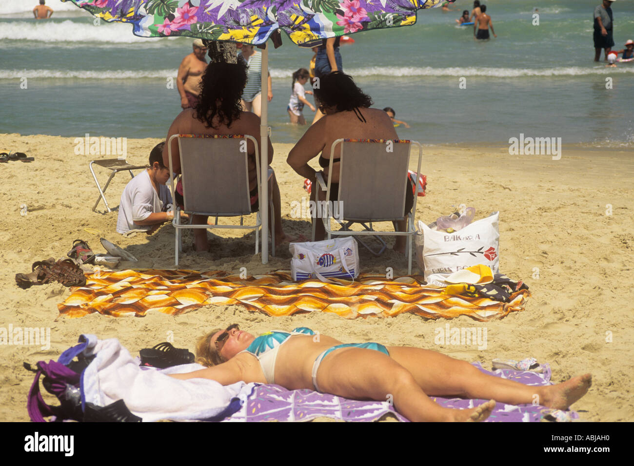 Exposure to UV rays increases the risk of skin cancer - Stock Image