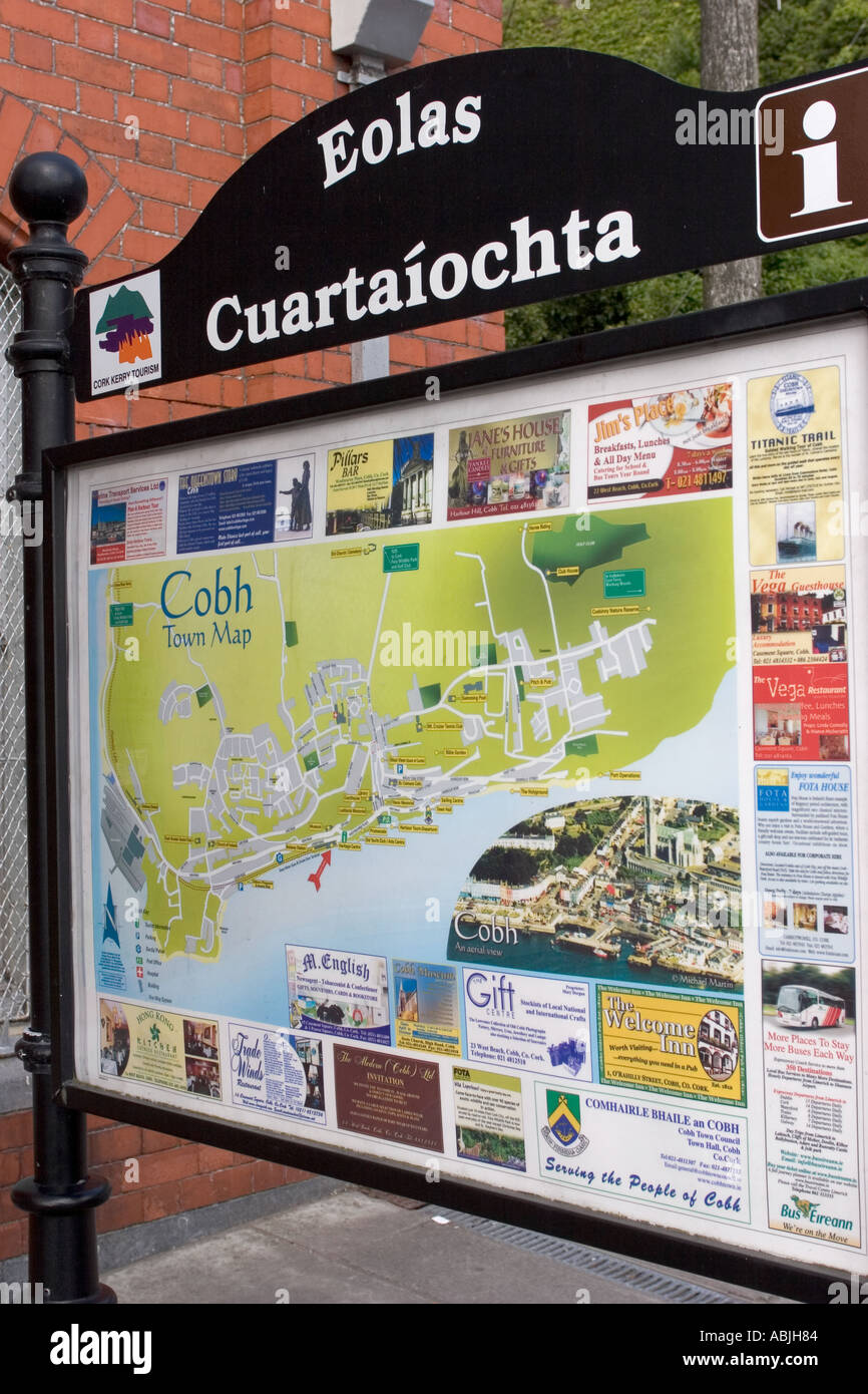 Town Map Cobh Cork Ireland Stock Photo 4213123 Alamy