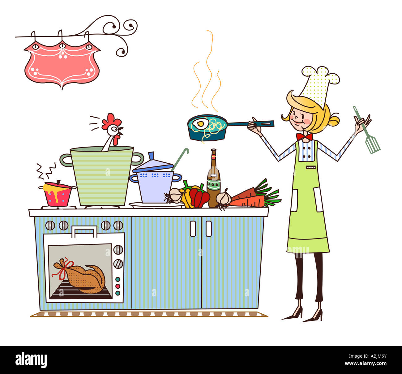 Cooking Clipart Stock Photos & Cooking Clipart Stock Images - Alamy