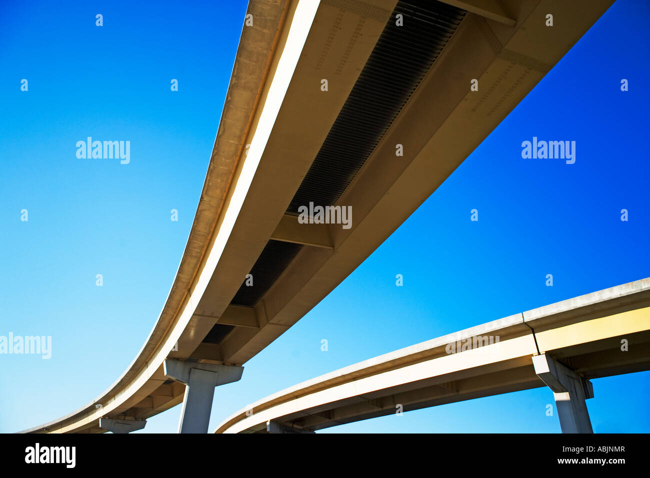 Low angle view of raised roadway - Stock Image
