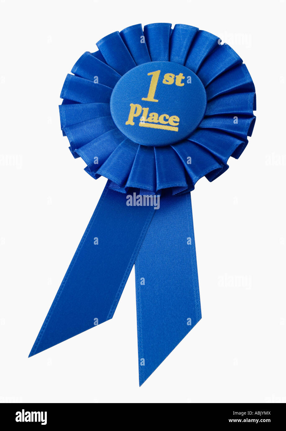First Place Blue Ribbon Vector