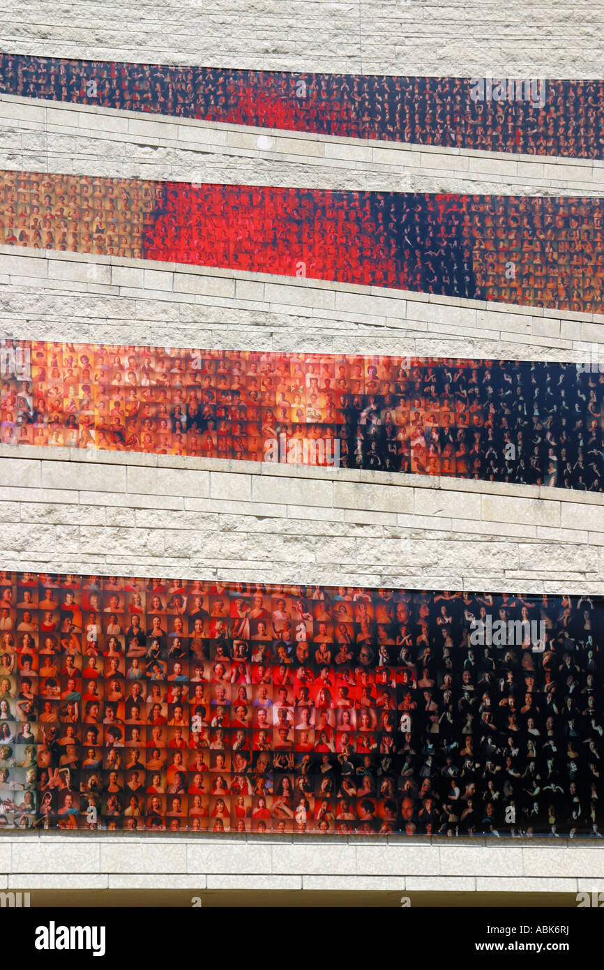 Mosaic of faces, Musee Canadien des Civilisations, Hull, Quebec, Canada - Stock Image