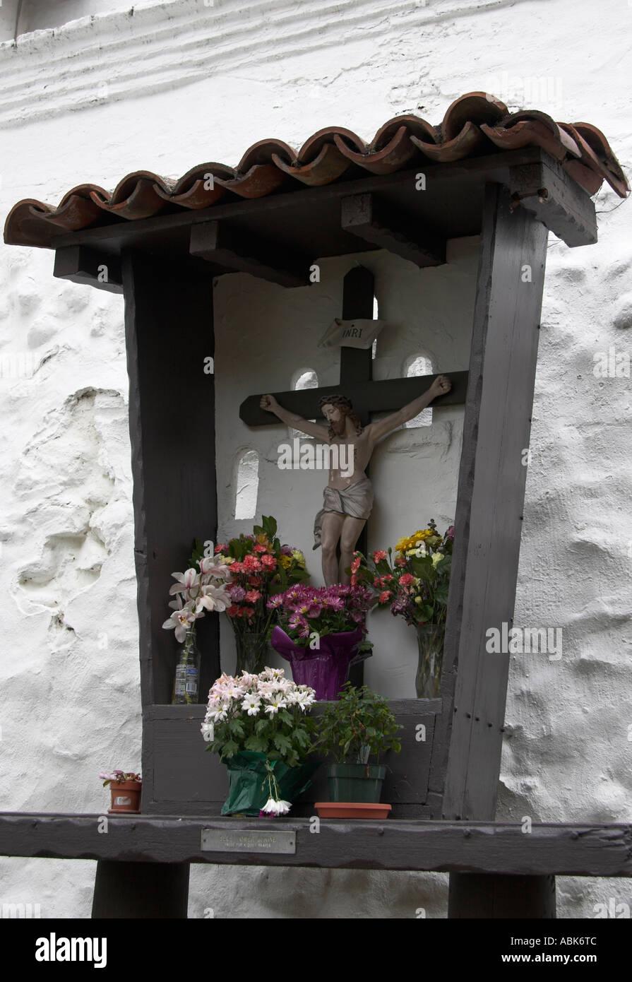 Wooden crucifix, Mission San Diego de Alcala, San Diego, California, USA - Stock Image
