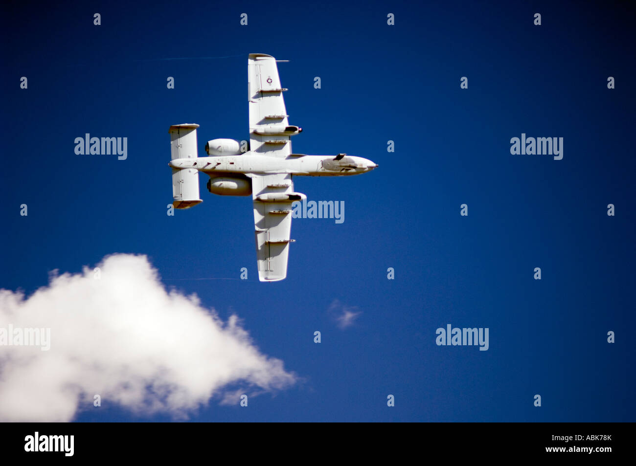 The US Air Force A 10 at the Sacramento Airshow in Californina - Stock Image