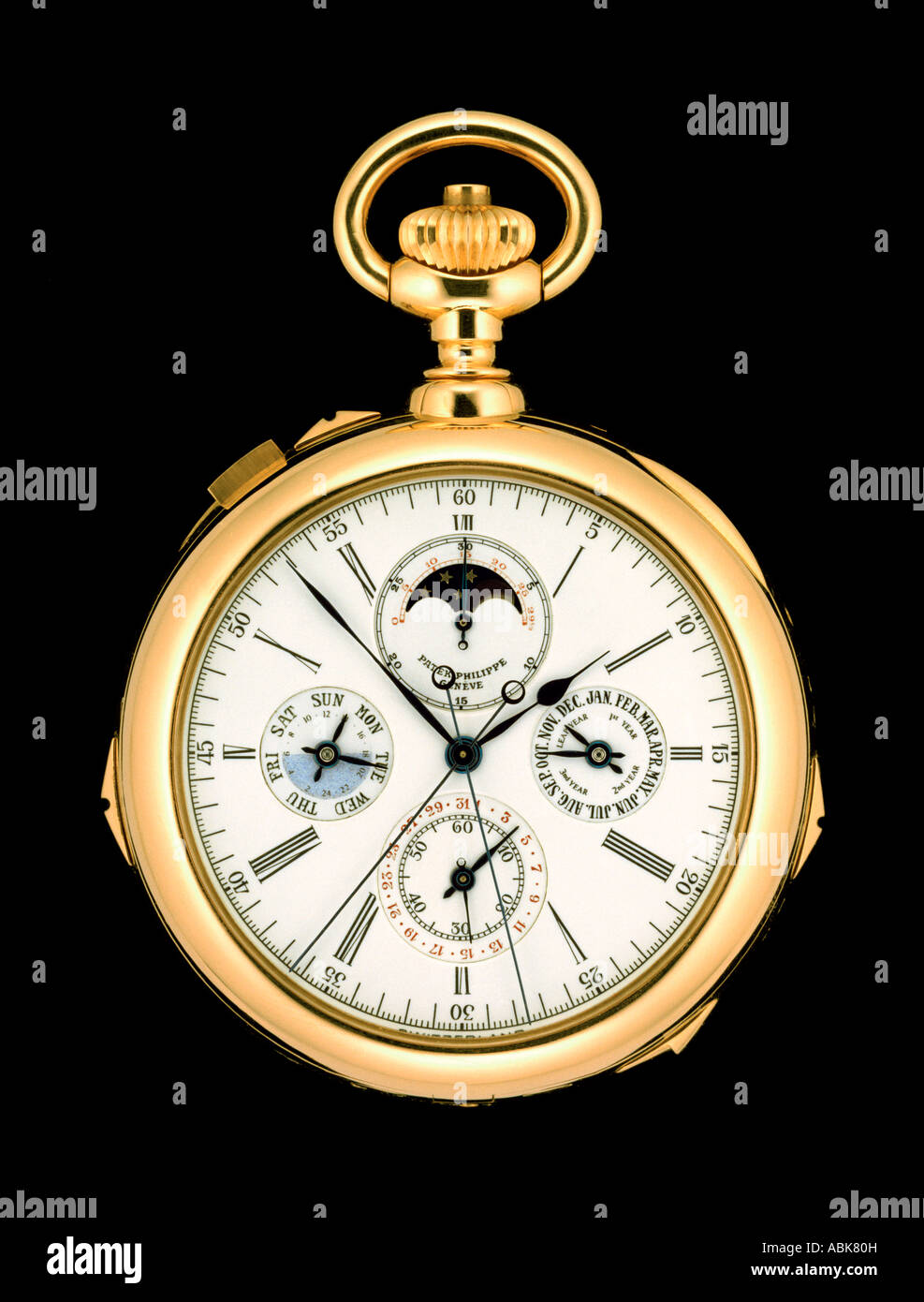 Patek Philippe 'Grand Complication' pocket watch. - Stock Image
