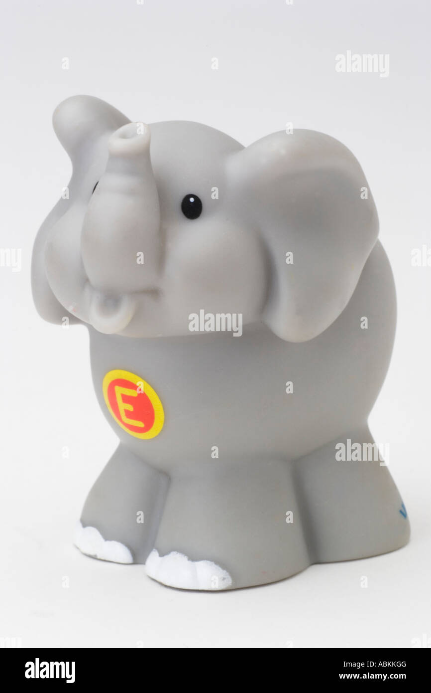 Fisher Price Toy Little People Alphabet Zoo Grey Gray Elephant Stock Photo: 12917487 - Alamy