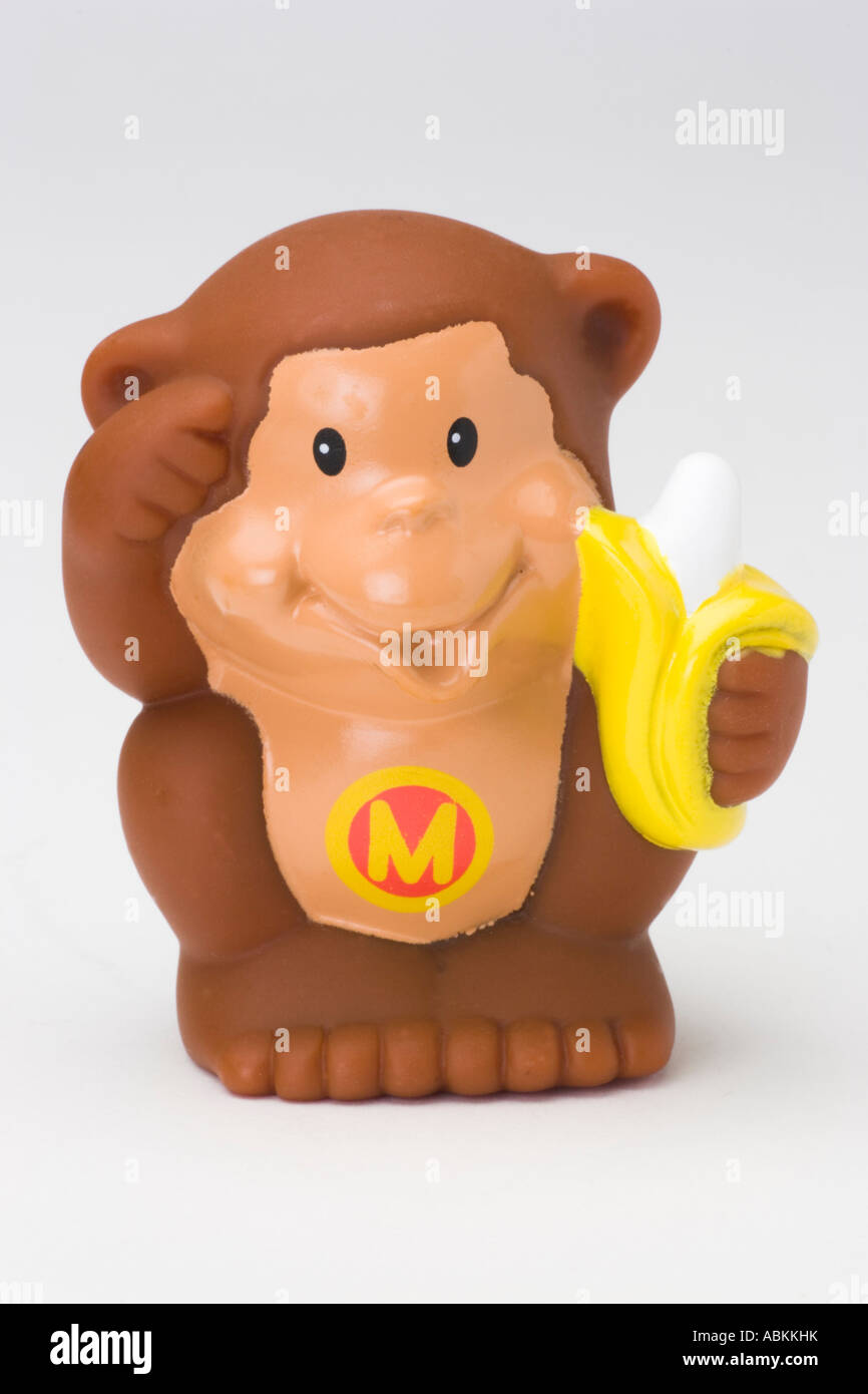 Fisher Price Toy Little People Alphabet Zoo Brown Monkey with banana ...